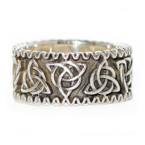 Celtic Knot Triquetra Sterling Silver Ring (R023)